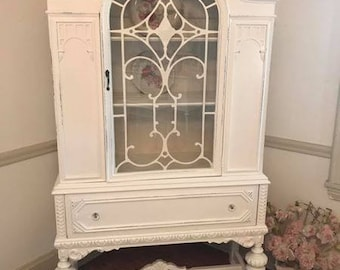 forever pink beautifully ornate antique china cabinet