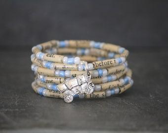 Little House On The Prairie, Laura Ingalls, Little House jewelry, Little House bracelet, spiral wrap bracelet, book lover gift