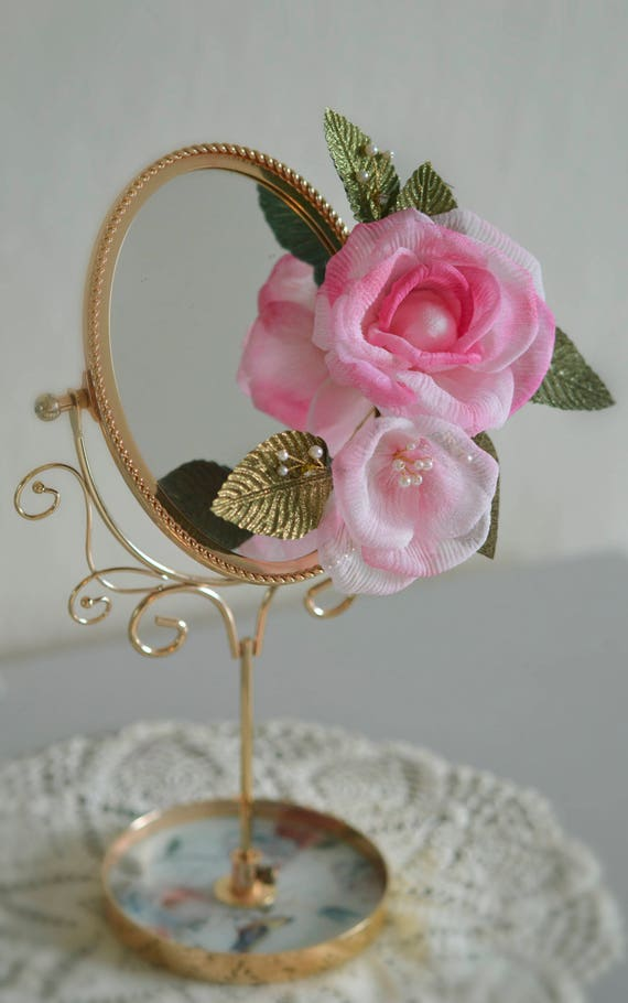 Floral Hair Comb - Blush Rose