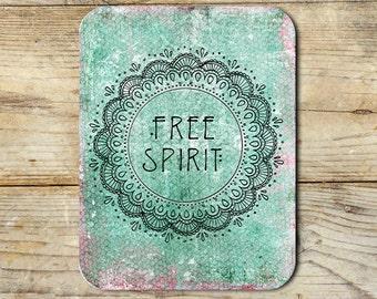 Boho Free Spirit Mandala Neoprene Mouse Pad Novelty Gifts Home Office Decor