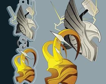 Thor & Loki Acrylic Charm