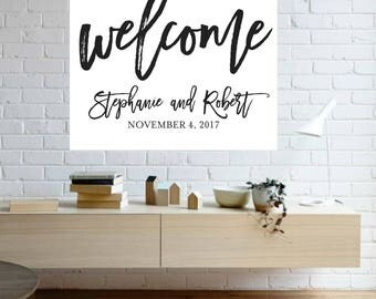 Wedding Welcome Sign | Reception Welcome | Ceremony Welcome | Welcome Sign | Modern | Digital Design | Choose Your Size | Reception Sign