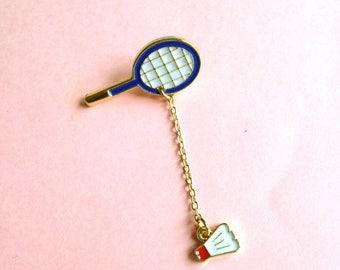 Enamel pin badge Badminton racket pin Lapel Pin Brooch