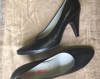 Miu Miu Vintage Black Pumps Size 37.5