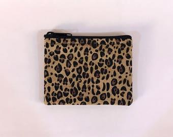Cheetah Print Coin Purse - Coin Bag - Pouch - Accessory - Gift