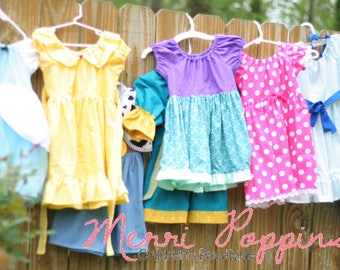 Princess Pack of 3, dress up dresses, princess inspired