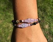 Purple Goddess bracelet, motherhood, fertility bracelet, feminine, doula gift, midwife gift, sister gift, birth gift, regalo per ostetrica