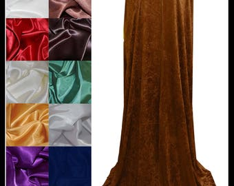 Chocolate Brown Crushed Velvet Cloak lined with a Shimmer Satin of your choice. Ideal for LARP LRP Medieval Cosplay Costume. NEW!
