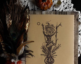 "Autumnus • 11x13"" Screen print by Amalia Kouvalis"