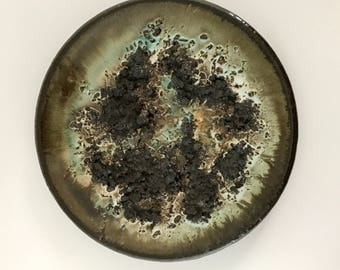 Glit Pottery Iceland Lava Hanging Studio Pottery Plate Wall Hanging