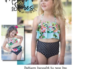 Mermaid Shores Collection- Calypso PDF Pattern instant download Sizes 1/2-14years