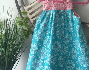 Size 4-5 Years Boho Tie Up Sundress