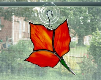 Stained Glass Leaf Suncatcher, Fall Leaves, Autumn Suncatcher,Fall Decor, Autumn Decor, Thanksgiving Decor, Sycamore Leaf, Glass Leaf