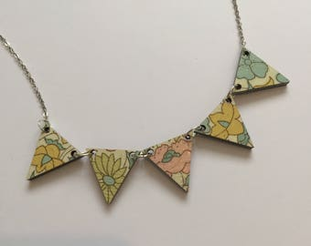 Liberty Print Bunting Necklace