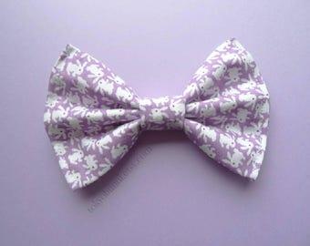 Pastel Kawaii Bunny Hair Bow Lavender- Kawaii -Fairy Kei -Pastel Goth-Cute - Harajuku