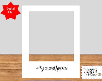 Custom White Photo Frame Photo Booth Prop Instagram Prop (Digital File Only)