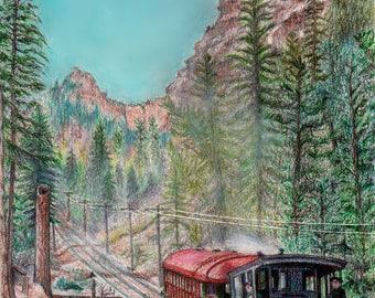 Pikes Pea, Cog Railway, Colorado Springs, Co.