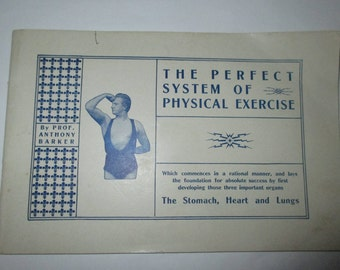 RARE Vintage The Perfect System of Physical Exercise by Professor Anthony Barker fitness lessons