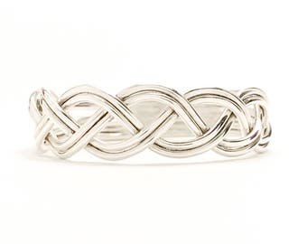 Sterling Silver Braid Ring, Silver Braided Ring, 925 Sterling Silver Twist Ring, Woven Silver Ring, Silver Statement Ring