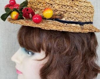 Vintage Women's Straw Hat