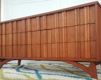 Mid Century Modern Triple Dresser Credenza Kagan Style