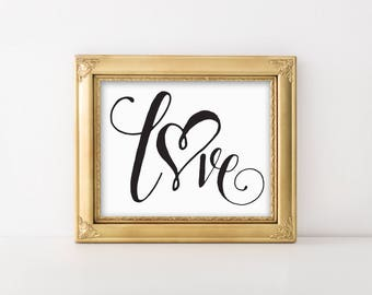 Love print, wall quote, digital quote, love quote, romantic art, love typography print, typography art, home decor, love sign, wall art.