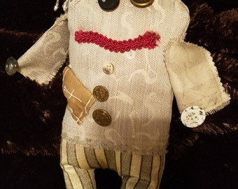 Tooth Fairy doll  cute monster doll cloth doll DUSTY small artbyevelynmarie Art by Evelyn Marie 12 inches hand made with pocket for tooth