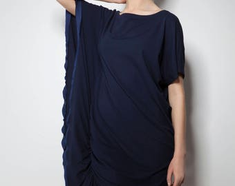 Navy blue dress with kimono sleeve