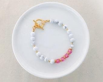 Marble Pink Bracelet -  Summer Collection