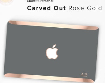 Rose Gold Permanent Embossed Letters and Monogram (Carved Out in Rose Gold)  - Touch of Personality and glamour -  Platinum Edition