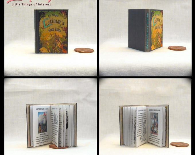 GRIMM'S FAIRY TALES Book in 1:6 Scale - Blythe - Momoko - Pullip - Barbie Scale Illustrated Readable Book