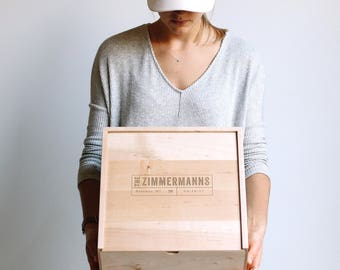 Memory Box, Wooden Box, Wedding Card Box, Personalized Gift, Baby Keepsake Box, Corporate Gifts, Bridesmaid Gift, Gift for Mom, Wood Box