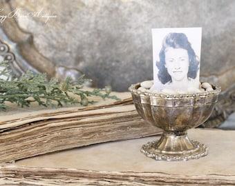 Antique Silver Cup Ornate Farmhouse Decor Fixer Upper Decor