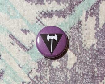 Lesbian Flag Pinback Button or Magnet
