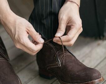 Handmade Men's Leather Chukka boot