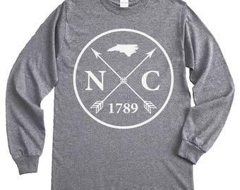 Homeland Tees North Carolina Arrow Long Sleeve Shirt