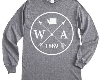 Homeland Tees Washington Arrow Long Sleeve Shirt
