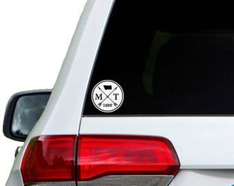 Montana Arrow Year Car Window Decal Sticker
