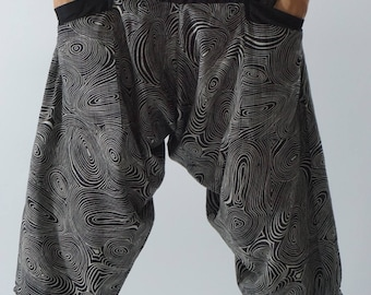 HC0150 Samurai Pants  - elastic waistband and cuffs - Fits all!  Unisex pants