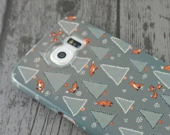 Fox Forest Cute Woodland Animal Patterned Samsung Galaxy S6 / S7 / S7 Edge Case