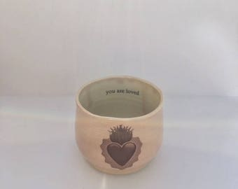 Porcelain Heart Child's Cup