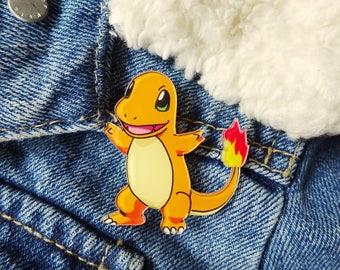 Pokemon 90s Charmander Nintendo Gameboy Ash Ketchum Pin Badge