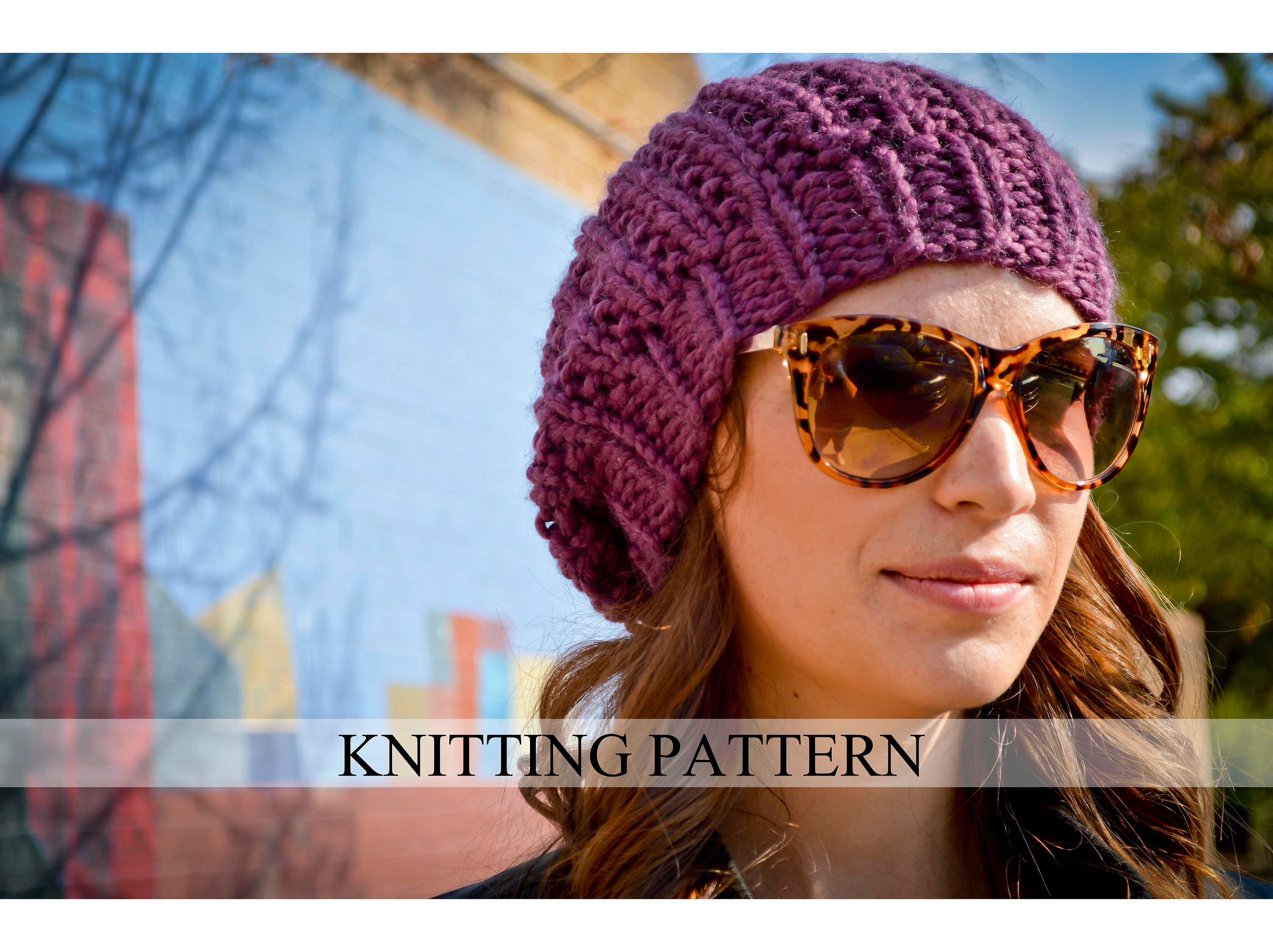 Knit hat pattern knitting pattern slouchy beret knitted slouchy this is a digital file bankloansurffo Images