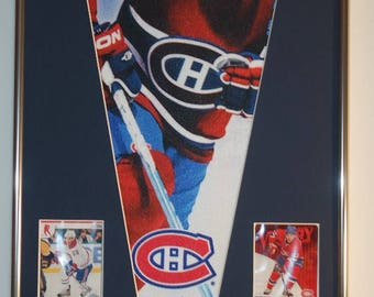 NHL Hockey Montreal Canadiens Michael Cammalleri Pennant with cards...Custom Framed!!!