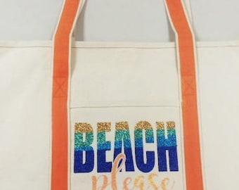 Beach Please Iron-on Bag Kit