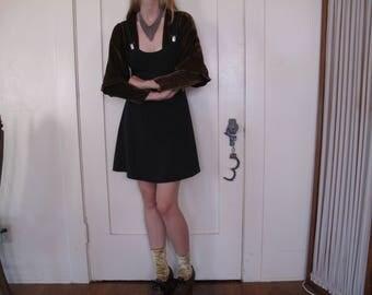 90's Suspender Overalls Dress sz Sm