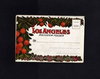 California Postcard, Los Angeles Postcard Folder, 18 Views, Los Angeles California Postcard, Los Angeles Postcard, California, UNUSED