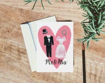 Mr and Mrs - Wedding Cards - Bridal Shower Card - Bride to Be