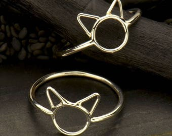 Sterling Silver Small Cat Ring-Animal Lover-Feline-Cat Lover-CatLady