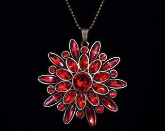 Red Starburst Necklace.